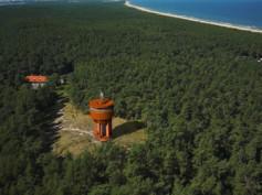 Wieżowy zbiornik wody na Wyspie Sobieszewskiej
