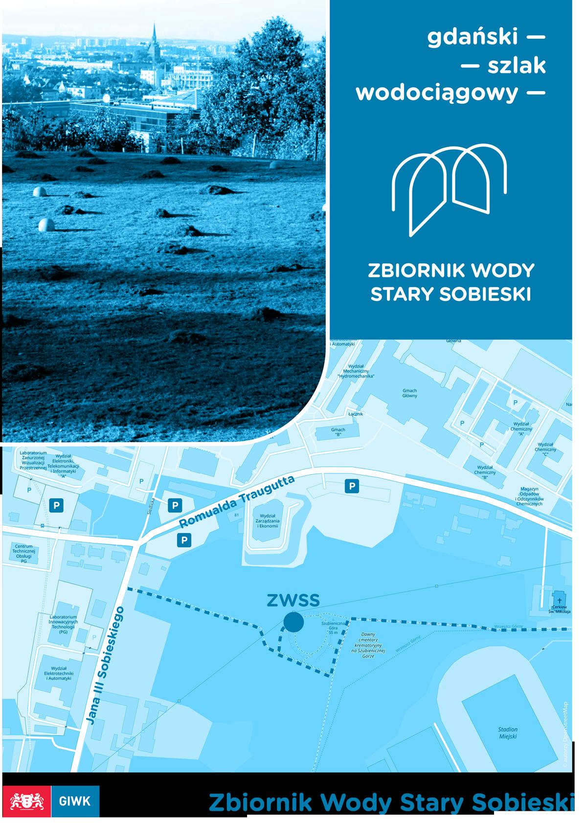 Zbiornik Wody Stary Sobieski mapka dojścia